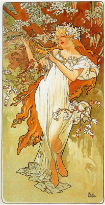 Alfons Mucha. Spring. Series Seasons