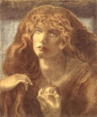 Данте Габриэль Россетти. Мария Магдалина. Эскиз