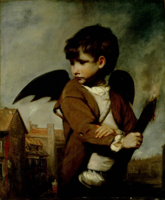 Joshua Reynolds. Cupid (Portrait of a young messenger in the image of Cupid)