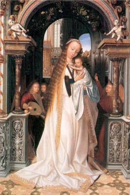 Квентин Массейс. Мадонна с младенцем