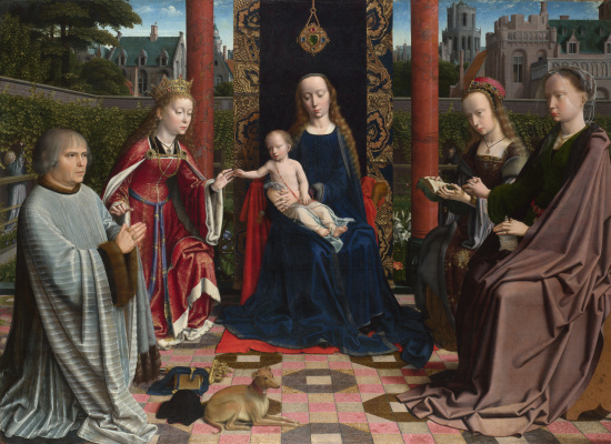 Герард Давид. Дева с младенцем и святыми