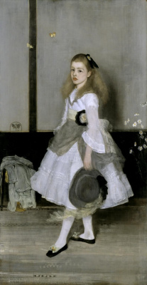 James Abbot McNeill Whistler. Harmony in Grey and Green: Miss Cicely Alexander