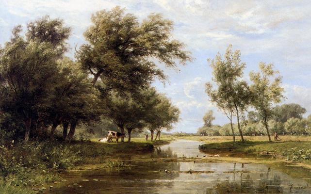 Ян Виллем ван Борселен. В Алблассердаме