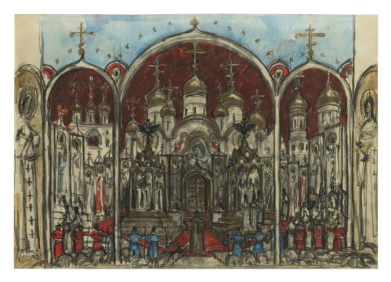 Nikolay Alexandrovich Benois. Set Design for Boris Godunov