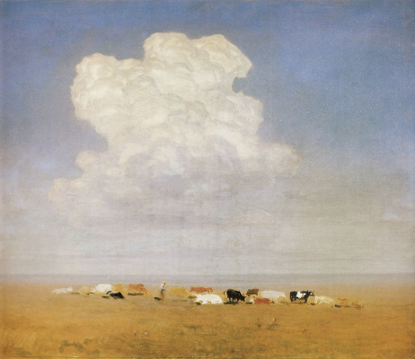 Arkhip Ivanovich Kuindzhi. Noon. A herd in the desert