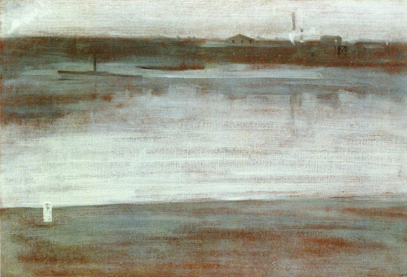 James Abbot McNeill Whistler. Symphony in grey: Early morning Thames