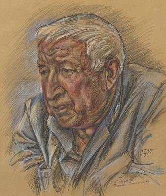 Дурды Байрамович Байрамов. Portrat of poet Rasul Gamzatov