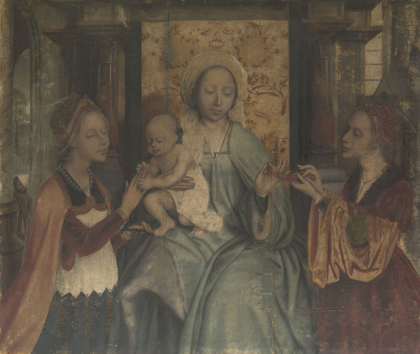 Quentin Masseys. Madonna and Child, St. Catherine and St. Barbara