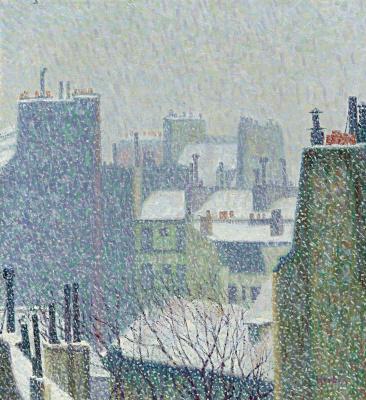 Auguste Erben. Roofs under the snow