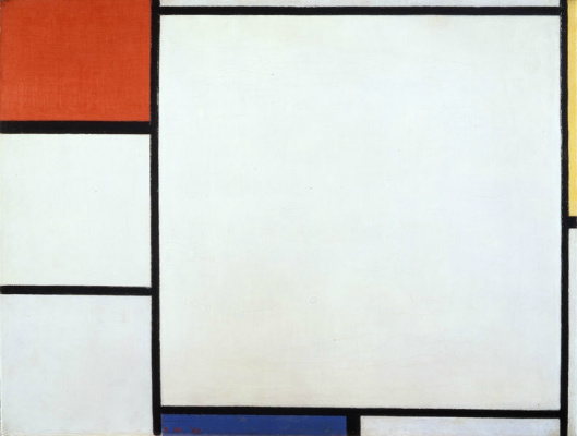 Piet Mondrian. Composition with red, yellow and blue
