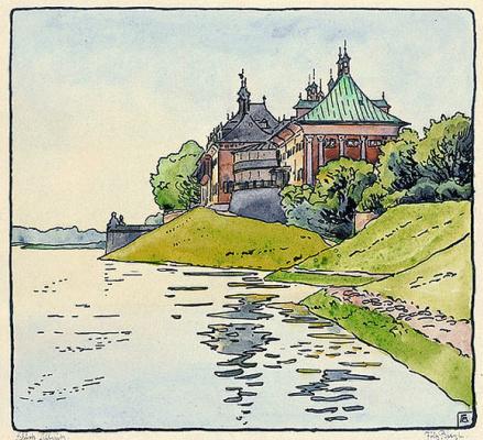 Fritz Bleuil. The Castle Of Pillnitz