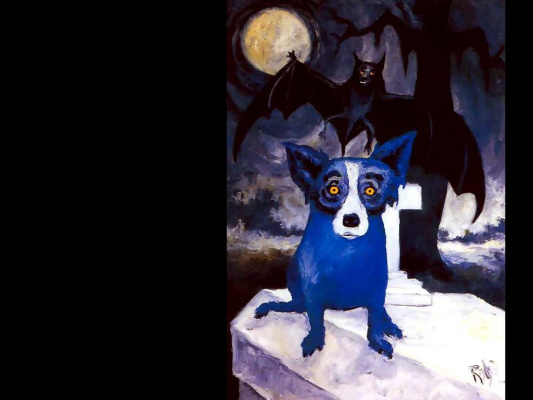 George Rodrigue. Blue собака002