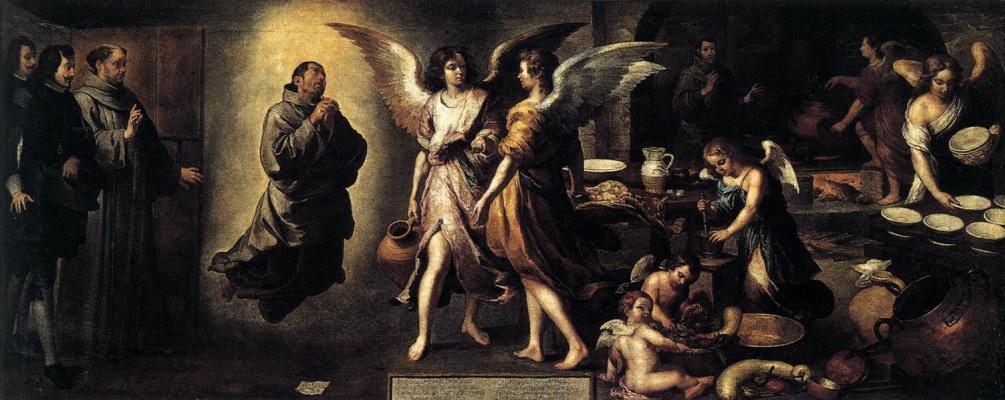 Bartolomé Esteban Murillo. Kitchen angels