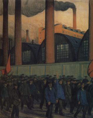 Boris Mikhailovich Kustodiev. Demonstration