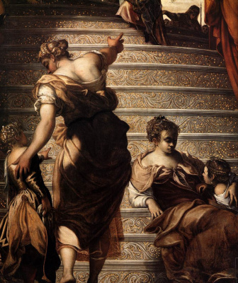 Jacopo Tintoretto. The presentation in the temple. Fragment