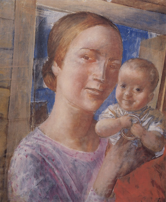 Kuzma Sergeevich Petrov-Vodkin. Mother and child