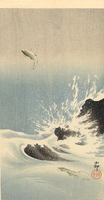 Ohara Koson. Fish 6