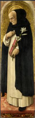 Carlo Crivelli. St. Dominic. The Central altar of San Domenico in Ascoli. Fragment