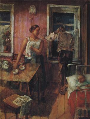 Kuzma Sergeevich Petrov-Vodkin. Anxiety