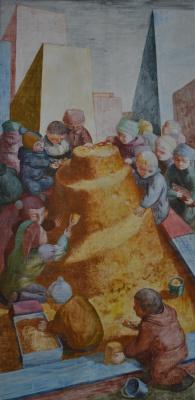 "Polina Raeva. ""The Tower of Babel"", sheet2 from the series ""Babylon"""
