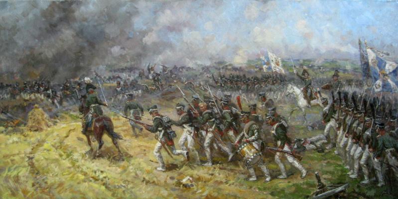 Aleksandr Chagadaev. Episode of the Battle of Borodino