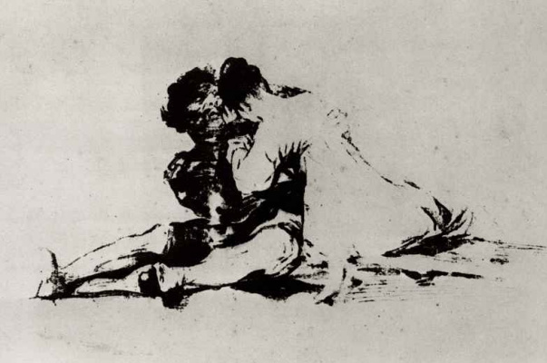 Francisco Goya. Love couple