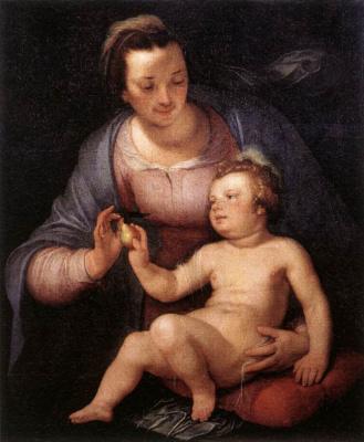 Корнелис ван Харлем. Матерь с младенцем