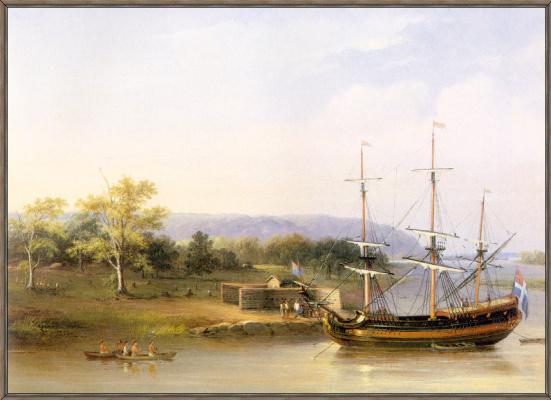 Бонфилд. Первые уполномоченные шведы на реке