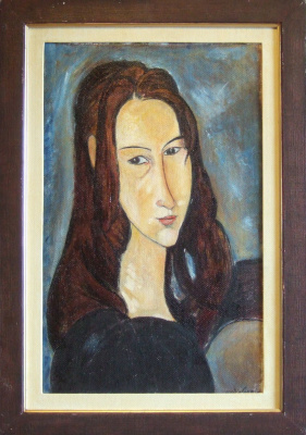 Copy: Modigliani - Head of Jeanne Hébuterne half turned to the right