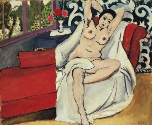 Henri Matisse. Stripped on the sofa