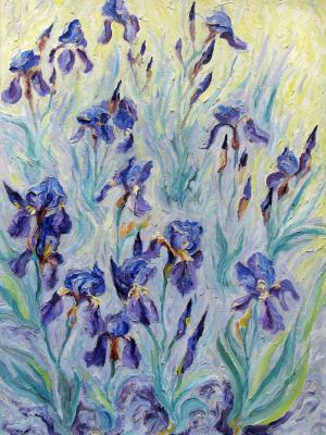Alexey Vladimirovich Konstantinov. Blue irises