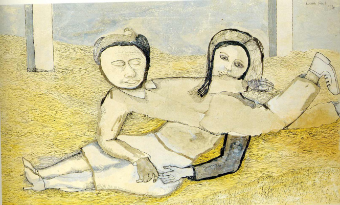 Lucien Freud. Man and woman