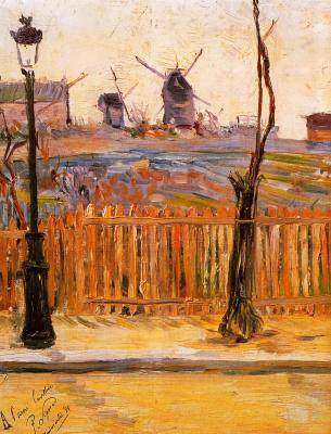 Paul Signac. Street Caulaincourt, mills on Montmartre