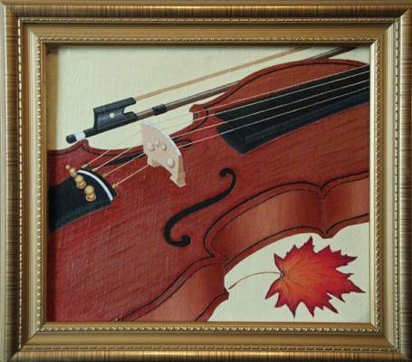 Victor Petrovich Burmin. Study with violin # 3.