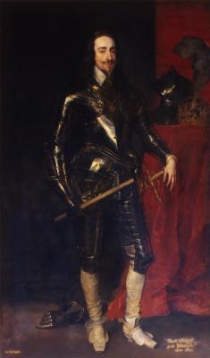 Anthony van Dyck. Portrait of king Charles I