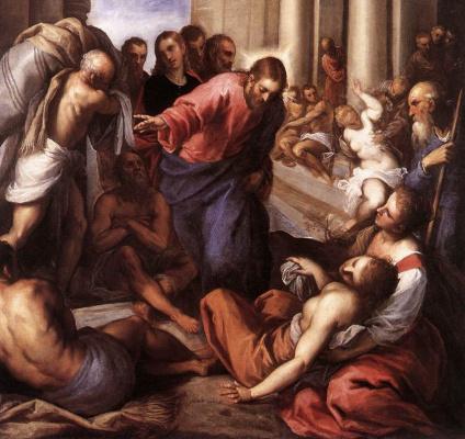 Джакомо Пальма Младший. Христос исцеляет больных