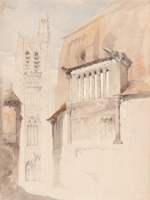John Ruskin. Tower of the Cathedral in Sens