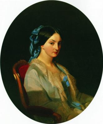 Ivan Kuzmich Makarov. Portrait of a young woman. 1856