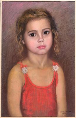 Galina Petrovna Khmelevskaya. Portrait of Sveta