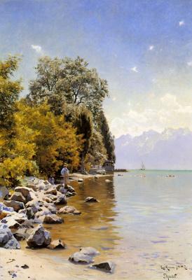 Петер Мёрк Мёнстед. Рыбалка на Женевском озере