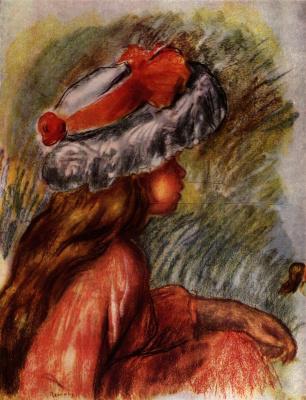 Pierre-Auguste Renoir. Seated girl