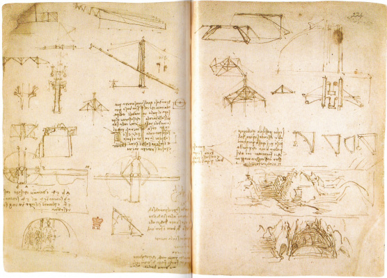 "Leonardo da Vinci. Page from ""Treatise on painting"""