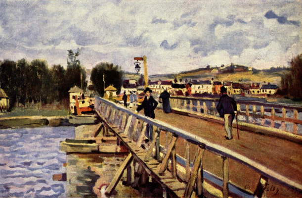 Alfred Sisley. The bridge at Argenteuil