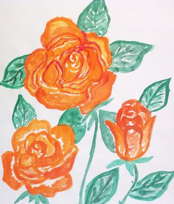 Irina Alexandrovna Sokolova. Orange roses