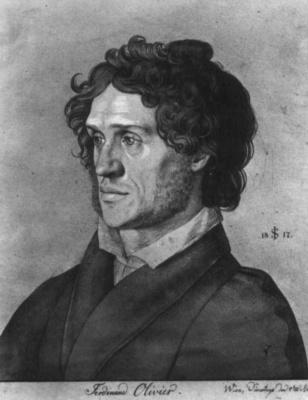 Julius Schnorr von Karolsfeld. Portrait Of Ferdinand Olivier