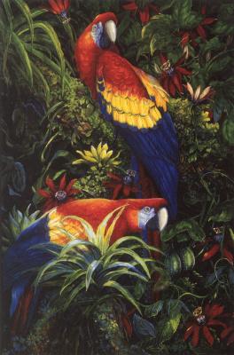 Лора Халберт. Два попугая