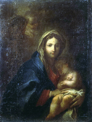 Себастьяно Конка. Мадонна со спящим Младенцем