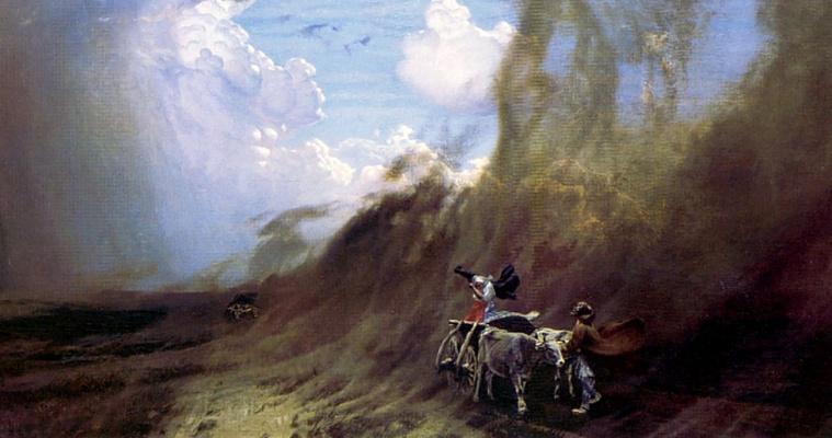 Nikolay Nikanorovich Dubovsky. A hurricane in the desert
