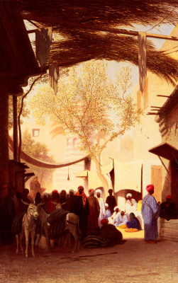 Karl Theodor Frer. The Market Of Cairo
