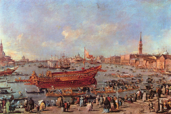 Francesco Guardi. Departure of the Booktaur in the Lido